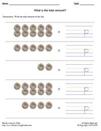math worksheet : basic handwriting for kids  mathematics  money math  united  : Key Stage 2 Maths Worksheets Uk
