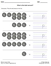 handwriting for kids math money math united kingdom coins what is the total amount 50p. Black Bedroom Furniture Sets. Home Design Ideas