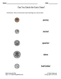 Printables Basic Money Worksheets basic handwriting for kids mathematics money math united descending or randomized order of the us states coins to create a worksheet see example sheet on right view a